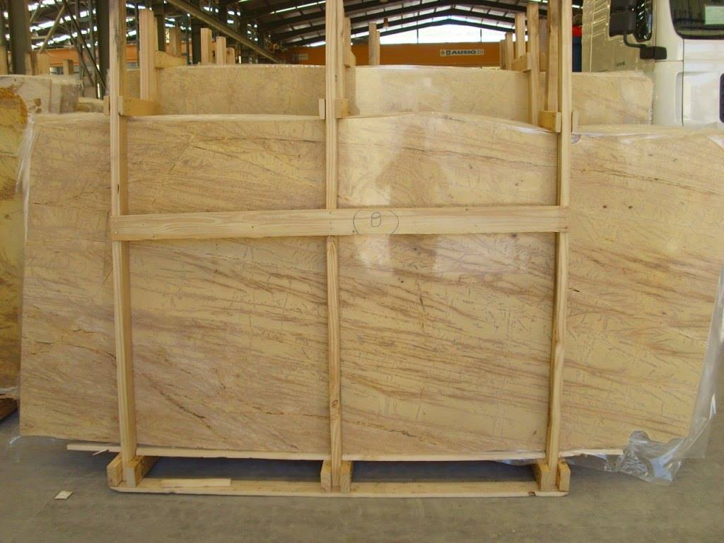 Spain Amarillo Triana Marble Slabs Yellow Marble Slabs