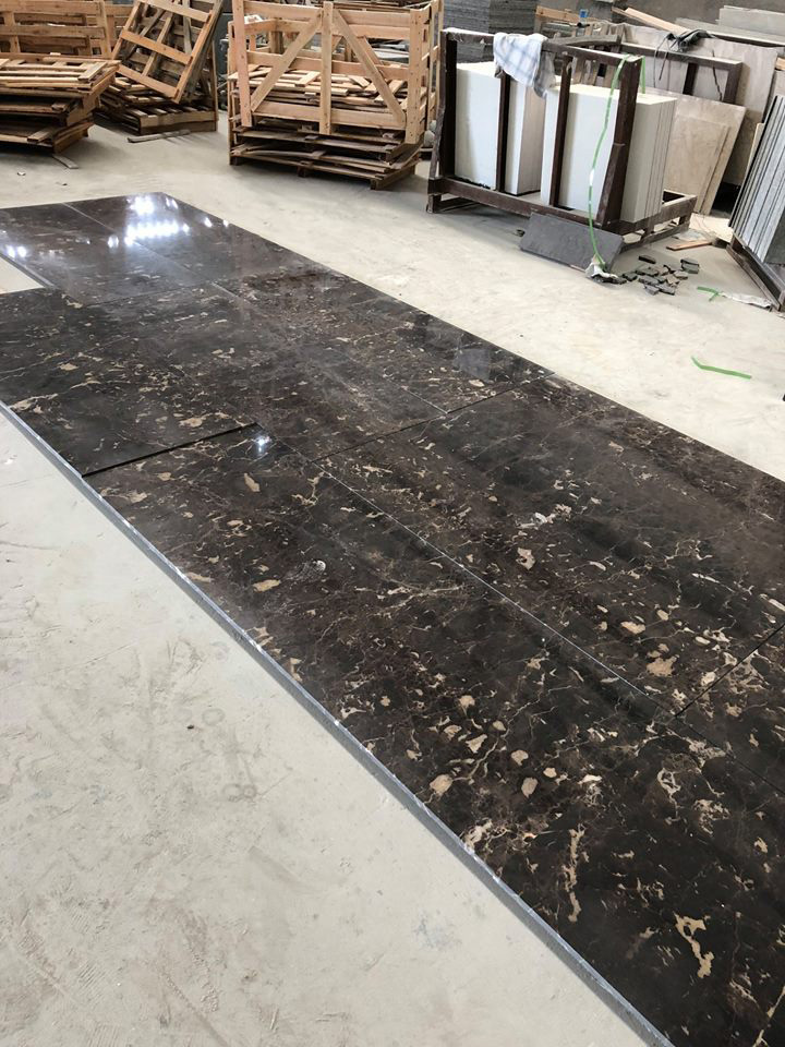Spain Dark Emperador Marble Tiles Flooring Tiles