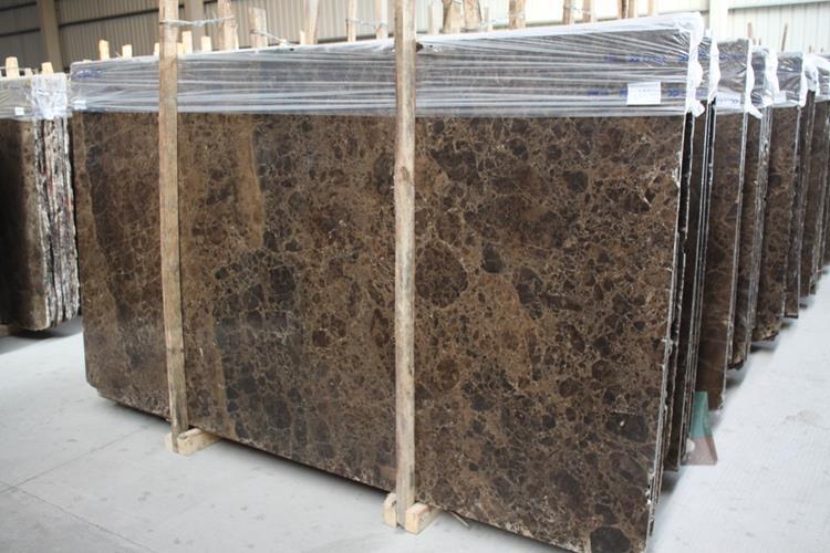 Spain Dark Marron Emperador Marble Slab For Hotel Project