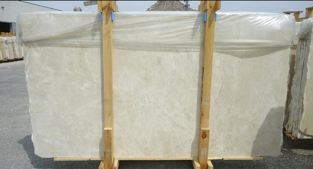 Spanish Beige Polished Marble Crema Marfil Stone Slabs