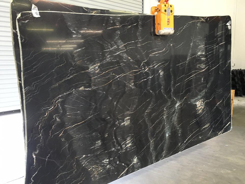 Spanish Belvedere Polished Marble Slabs Black Marble Stone Slabs