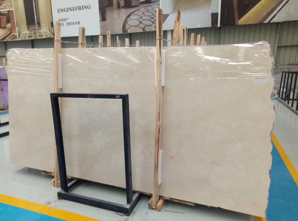 Spanish Crema Marfil Beige Marble Slabs with High Quality