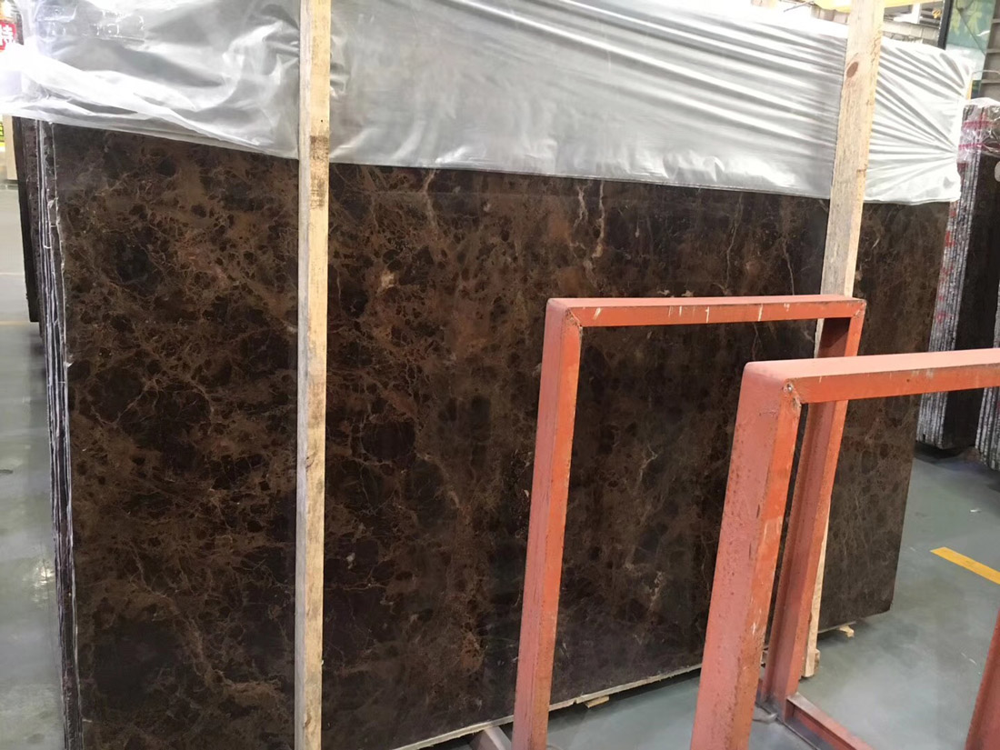 Spanish Dark Castanho Emperador Brown Marble Slabs