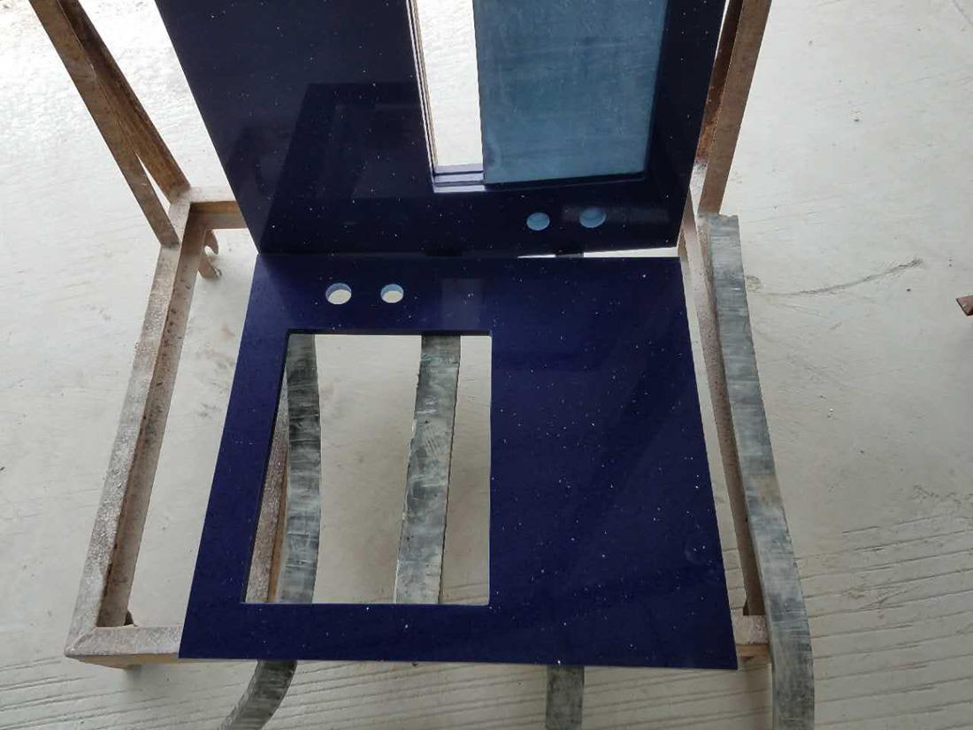 Sparking Blue Artificial Quartz Bathroom Vanity Tops