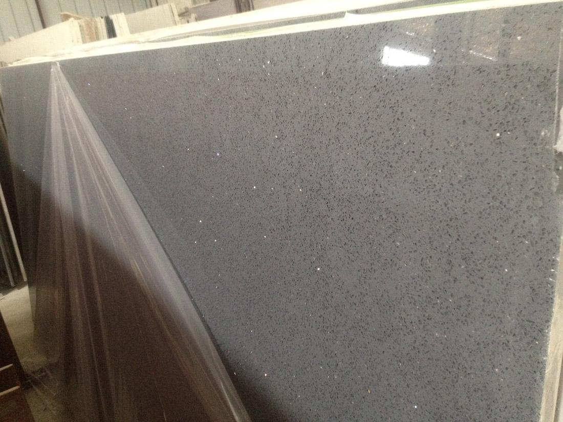 Sparking Grey Artificial Quartz Stone Slabs