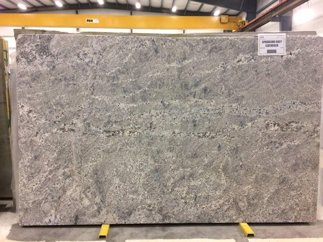 Sparkling Grey Granite Slab Polished & Leathered Granite Slabs