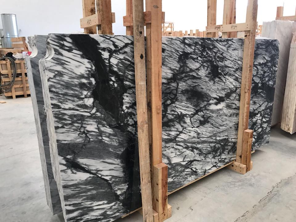 Spider Black Polished Marble Slabs from Portugal