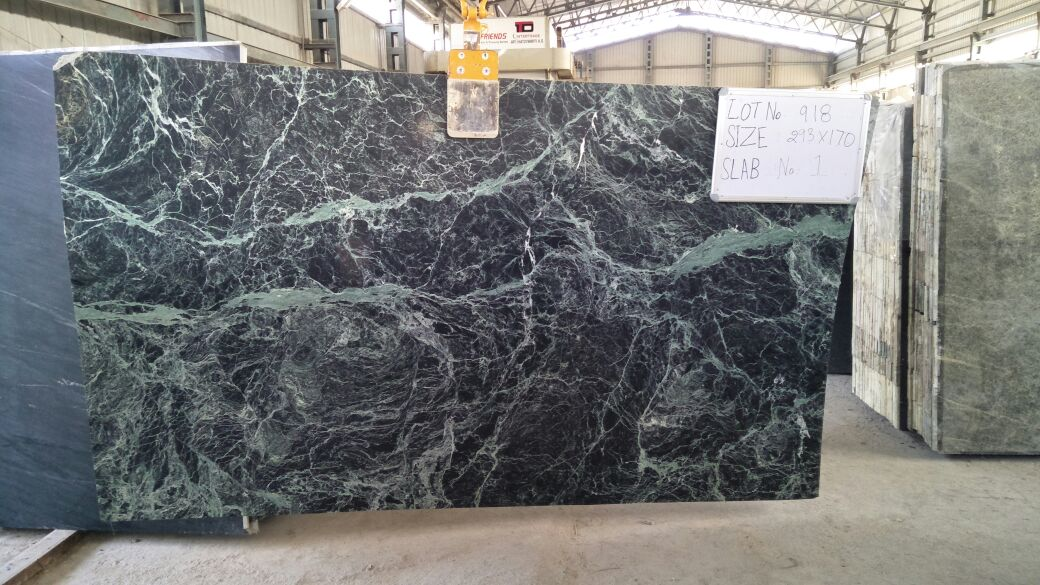 Spider Green Slabs Polished Green Marble Slabs