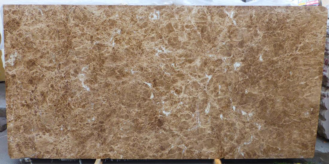 Spider Light Stone Slab Polished Brown Marble Slabs