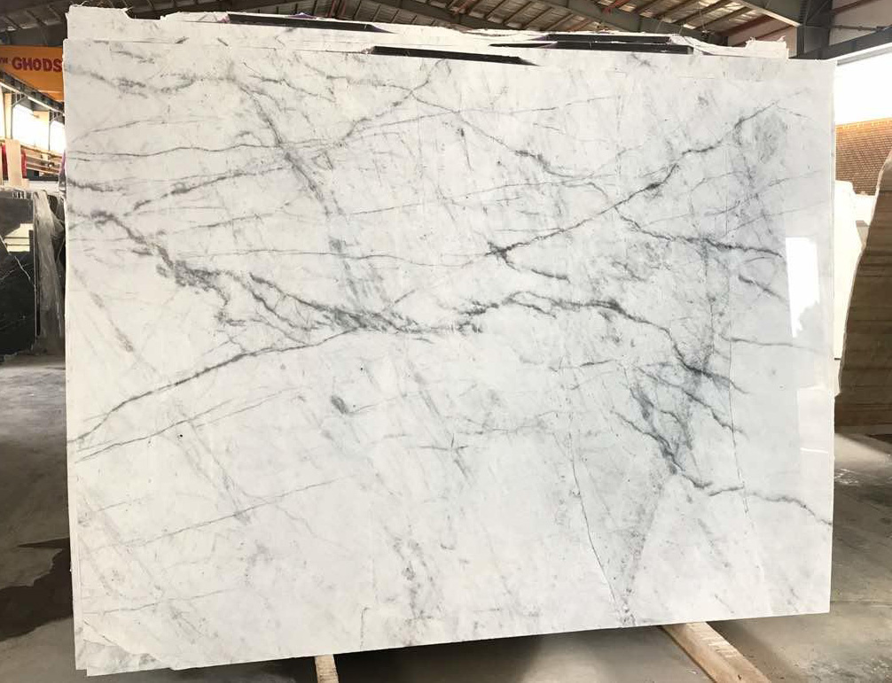 Spider Marble Iranian White Polished White Marble Slabs