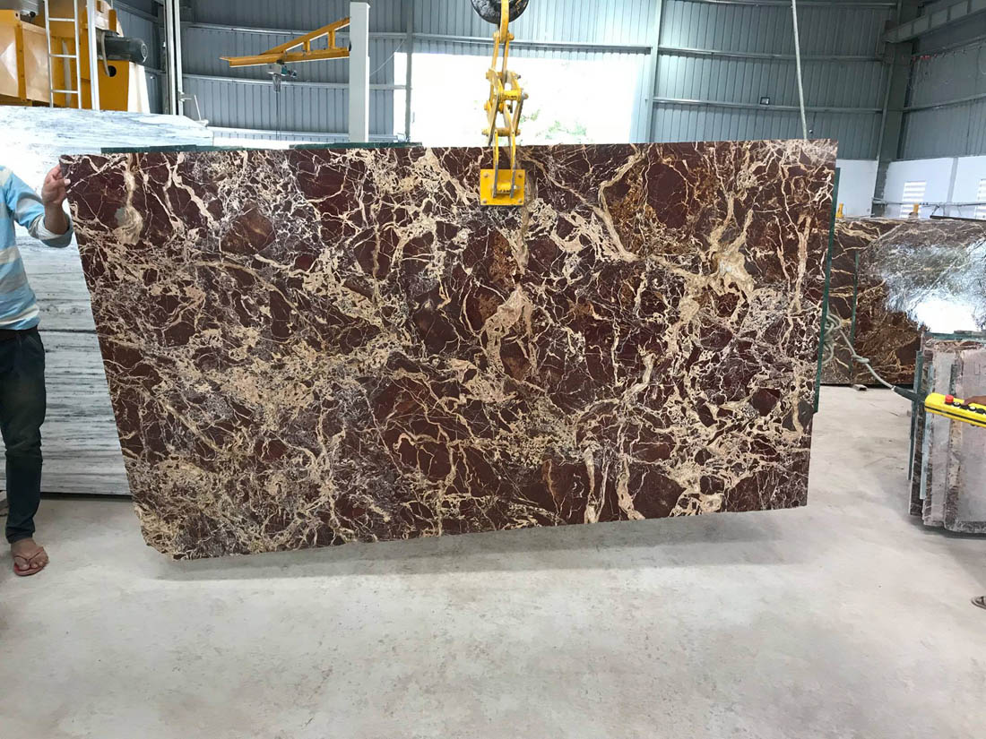 Spider Red Marble Slabs Red Polished Slabs