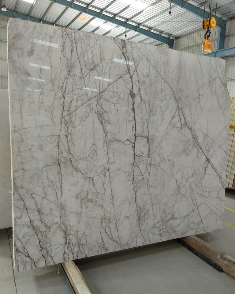 Spider White Marble Polished Slabs