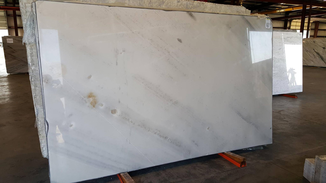 St. Marine Quartzite Polished White Slabs from Brazil