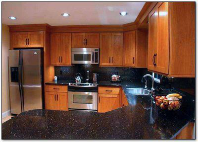 Star Golden Black Galaxy Polished Granite Countertops
