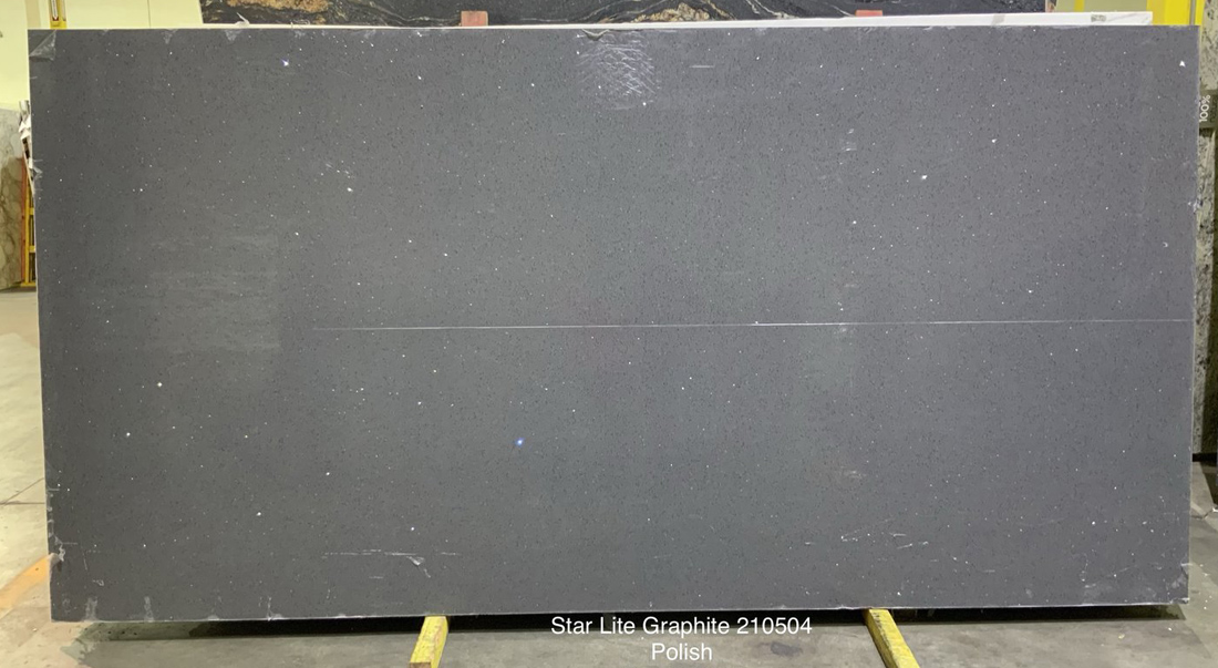 Star Lite Graphite Quartz Slabs Indian Polished Grey Quartz Slabs