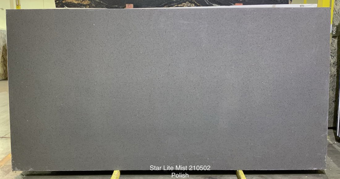 Star Lite Mist Quartz Stone Slabs Polished Grey Quartz Stone Slabs