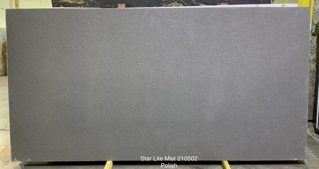 Star Lite Mist Quartz Stone Slabs Polished Grey Quartz Stone Slabs