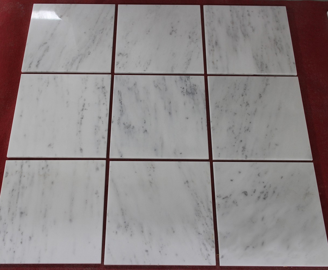 Starry White Marble Tiles Polished White Marble Stone Tiles