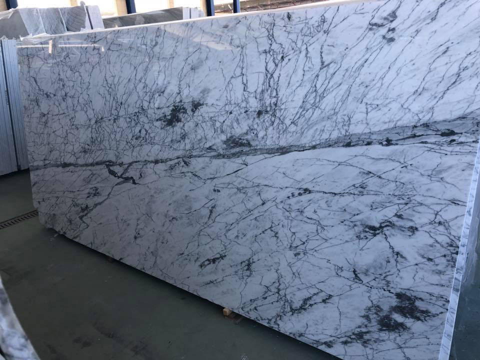 Statuarietto Slabs Polished White Marble Slabs