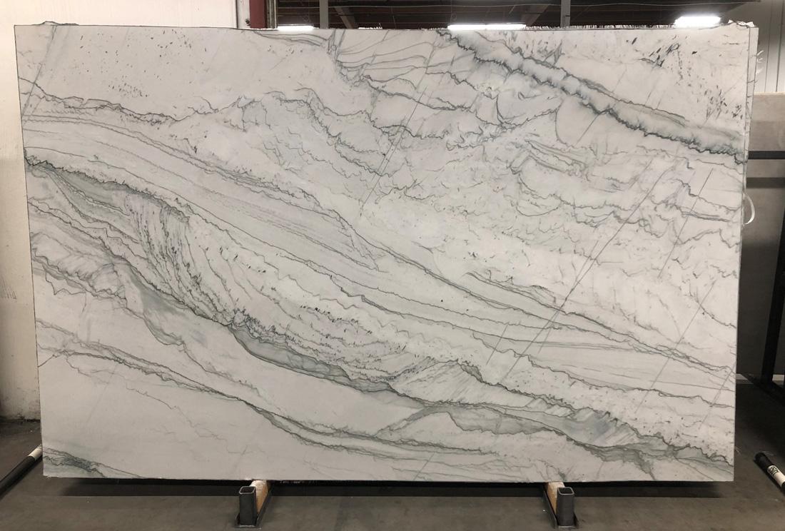 Statuario 3cm Polished White Marble Slabs for Bathroom Vanity Tops