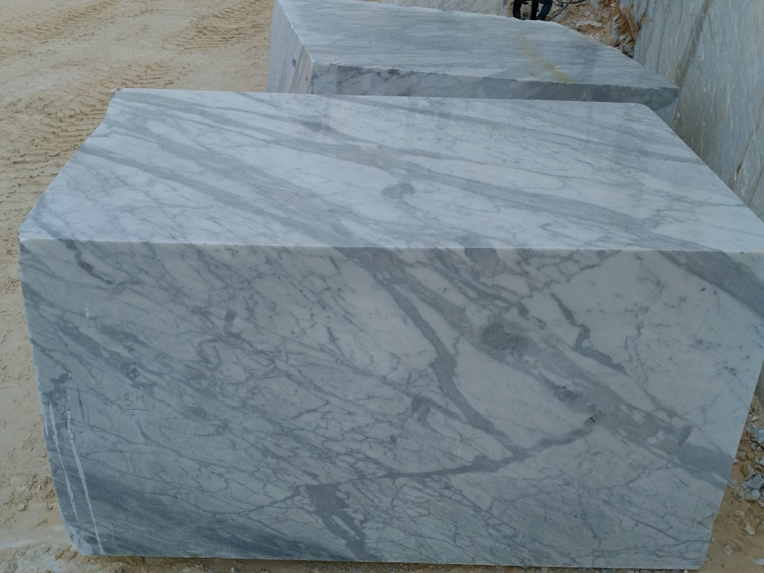 Statuario Belgia Marble Blocks White Marble Blocks