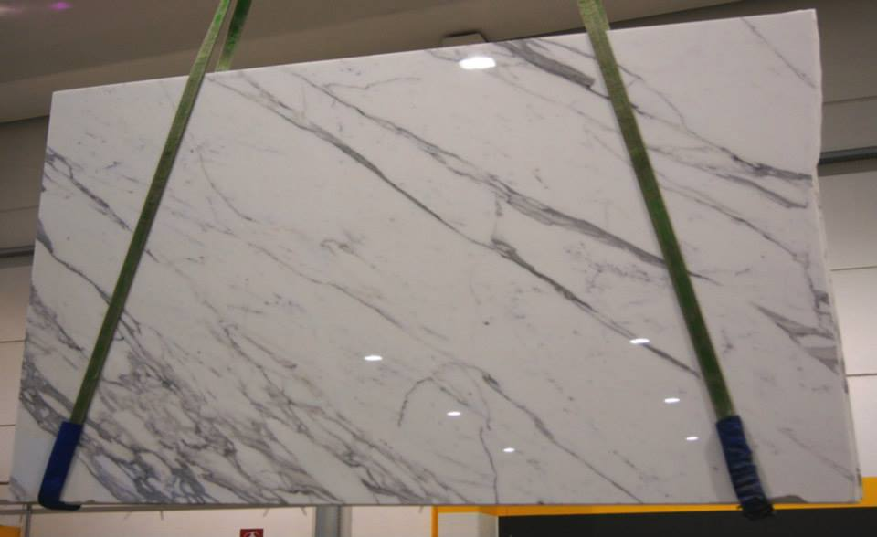 Statuario Marble Slabs Polished White Marble Slabs from Italy