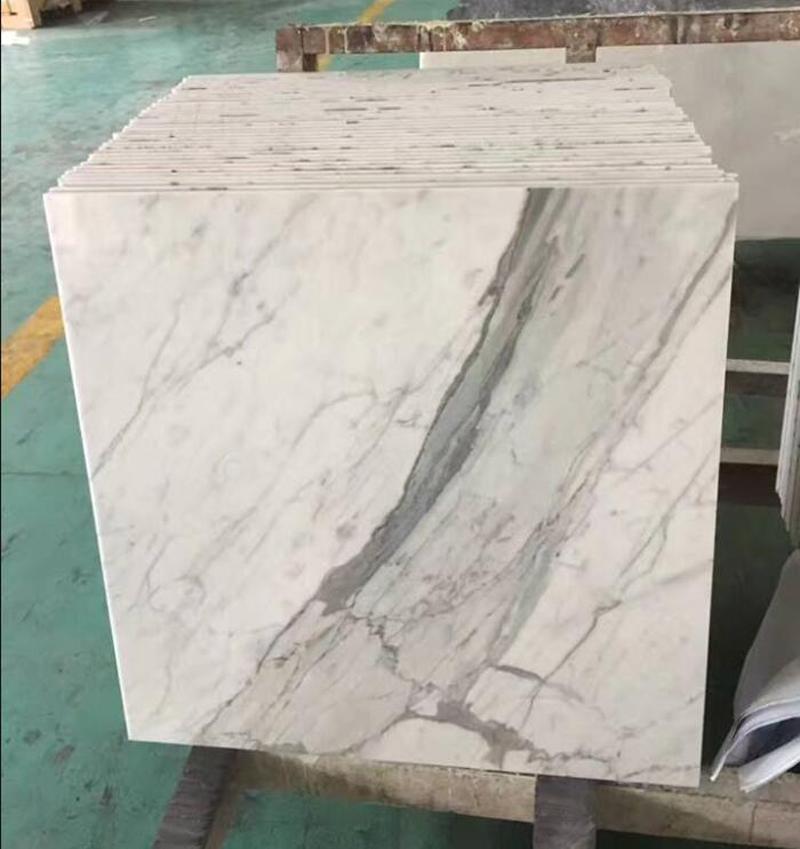 Statuario Marble Tiles Polished White Marble Tiles