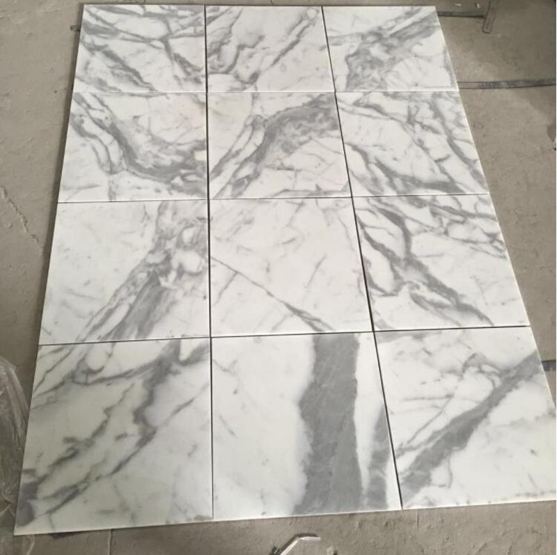 Statuario Marble Tiles White Polished Marble Flooring Tiles