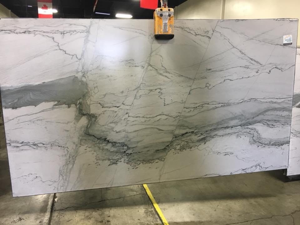 Statuario Quartzite Leathered White Quartzite Slabs
