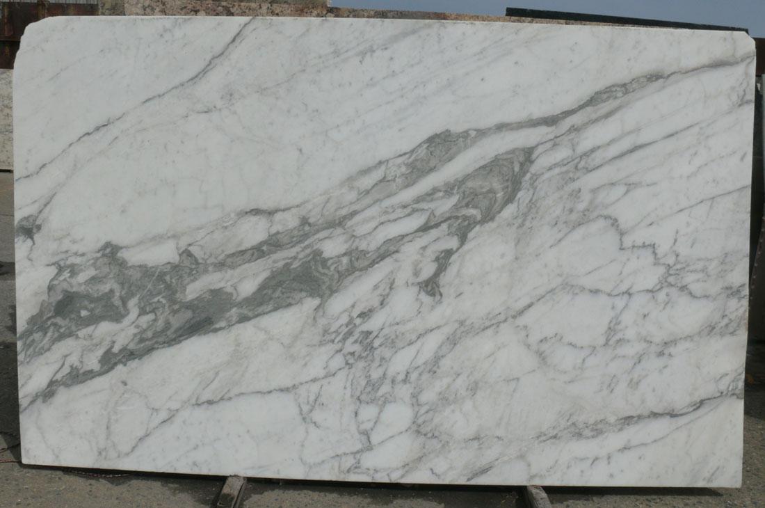 Statuario Venato Marble Slab Honed White Italy