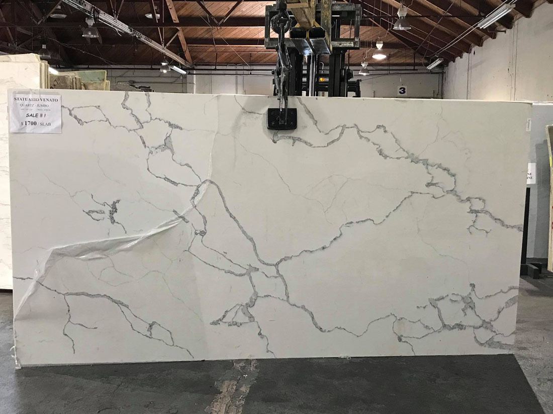 Statuario Venato Quartz Slabs