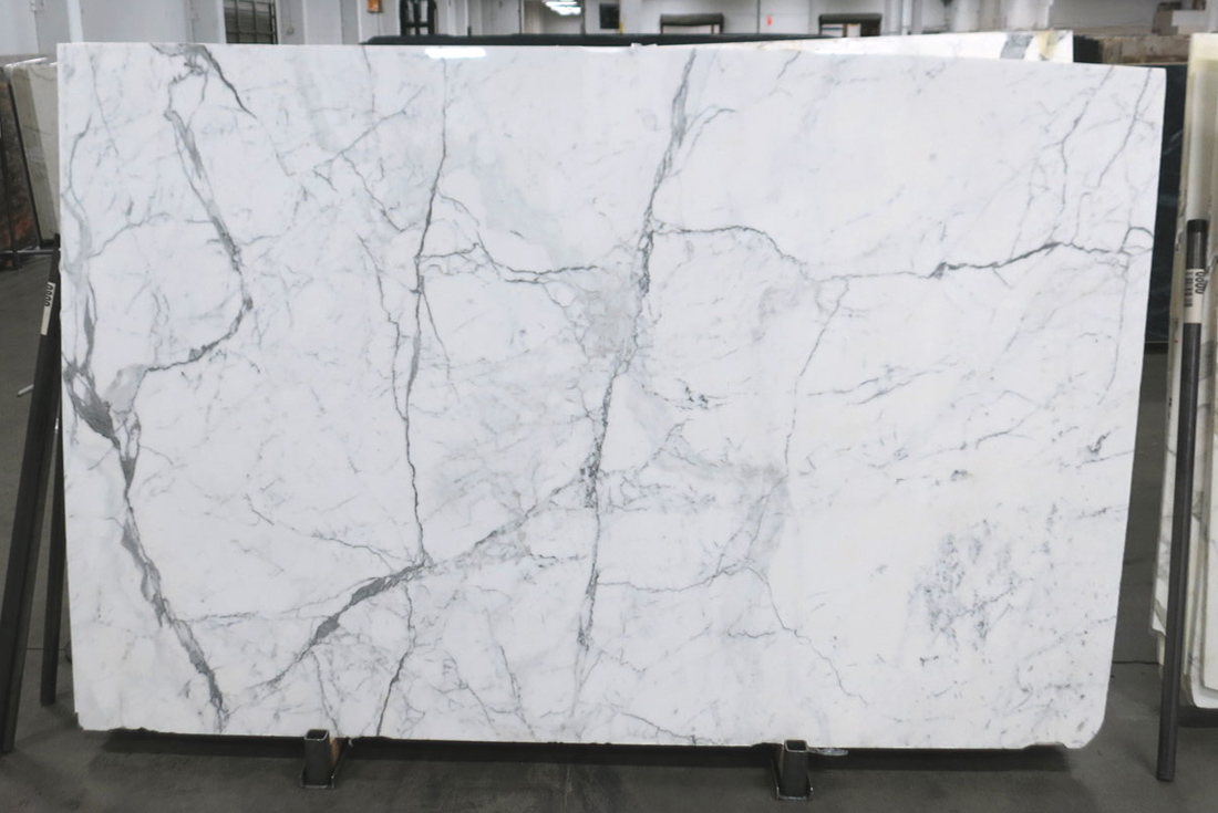 Statuario Venato White Stone Marble Slabs for Bathroom Vanity Tops