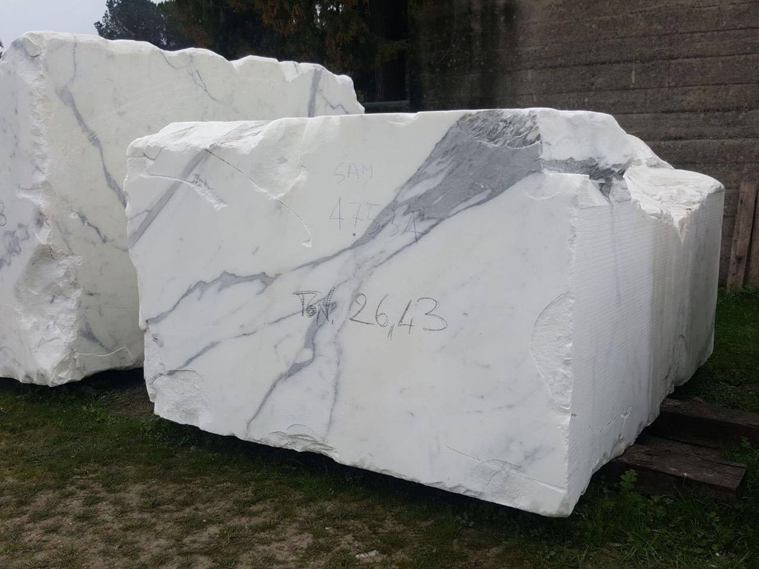 Statuario White Marble Blocks Natural Stone Blocks