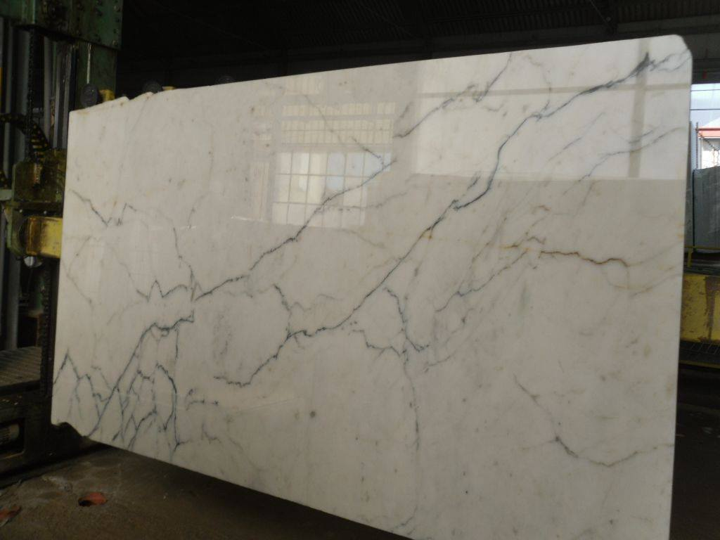 Statuario White Polished Marble Slabs
