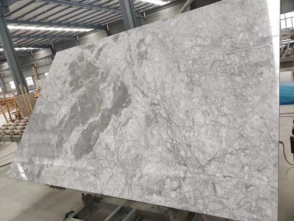 Storm Grey Marble Slabs Polished Grey Marble Stone Slabs