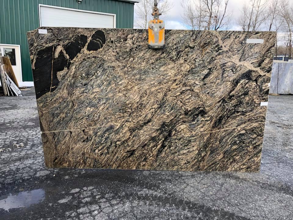Stormy Night Granite Slabs Brazilian Polished Granite Slabs