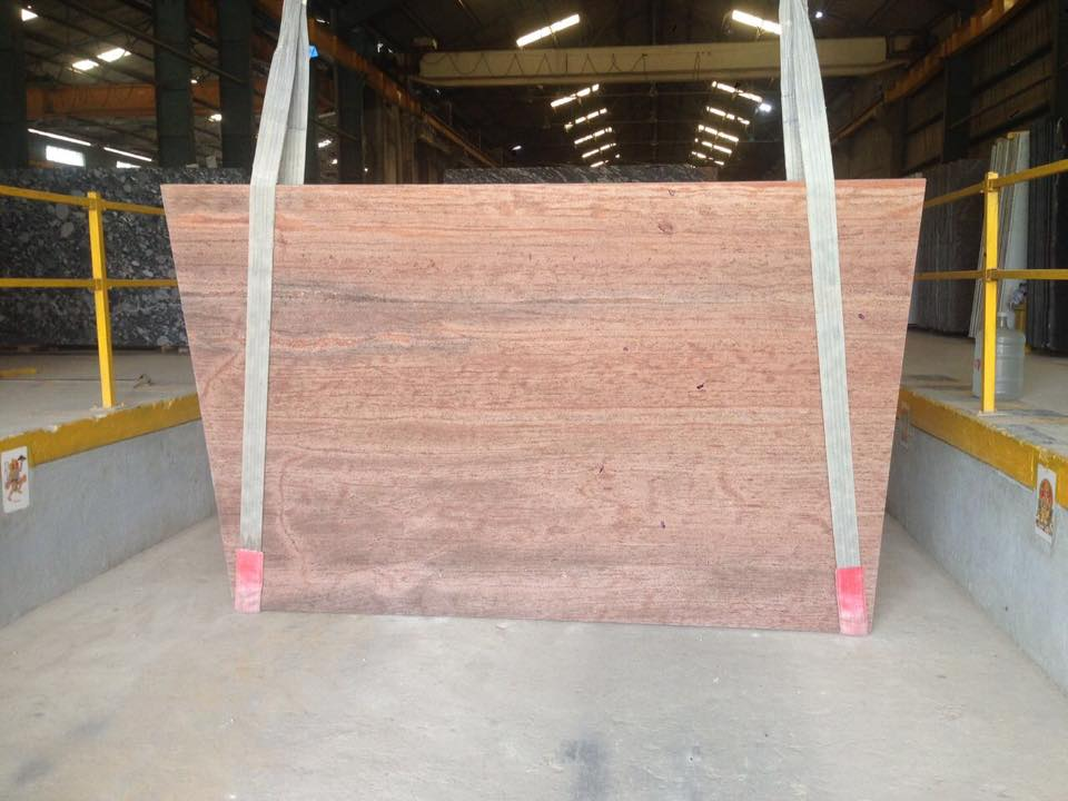 Strawberry Pink Granite Slabs Indian Pink Granite Slabs