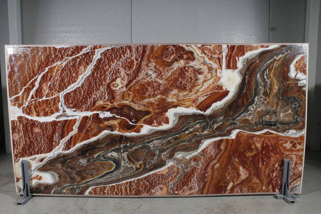 Sudden Fire Onyx Polished Slabs from Spain