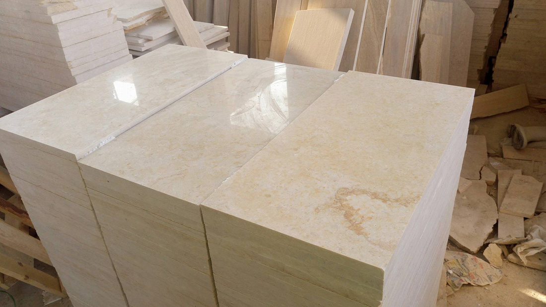 Sunny Egyptian Marble Tiles Polished Marble Tiles from Egypt