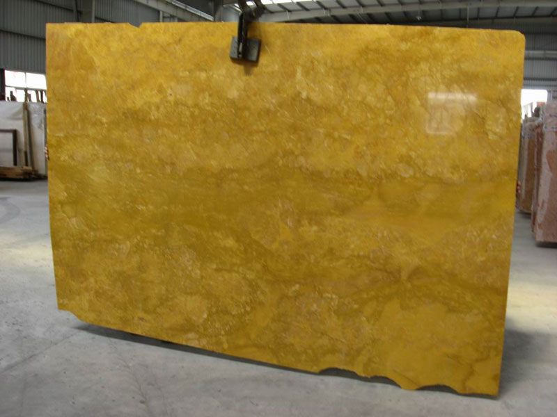 Sunny Yellow Slabs Polished Marble Stone Slabs