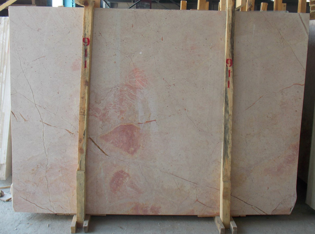 Sunset Pink Marble Slabs with Affordable Price