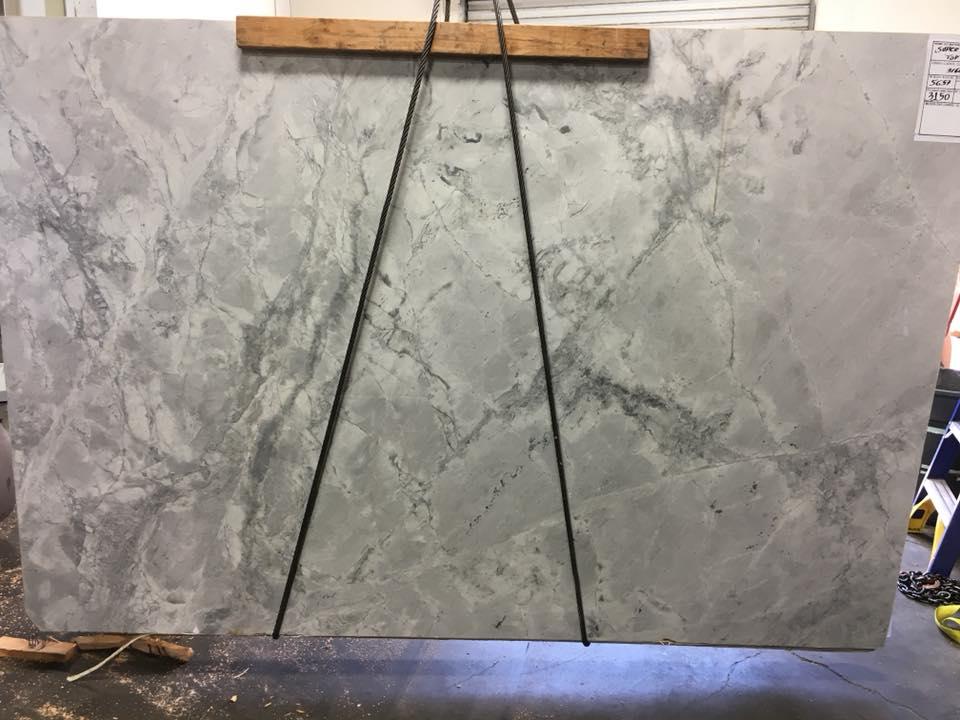 Super White Dolomite Leathered Quartzite Slabs