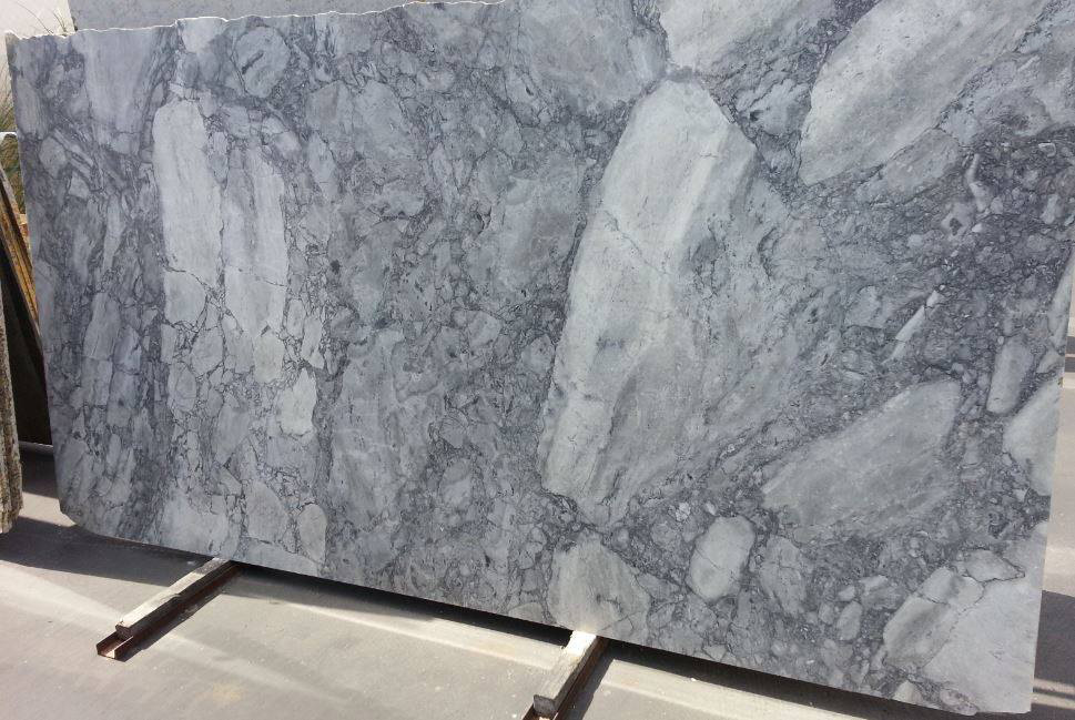 Super White Marble Slabs Polished Grey Marble Slabs
