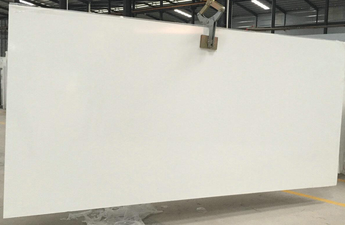 Super White Quartz Slabs with Competitive Price