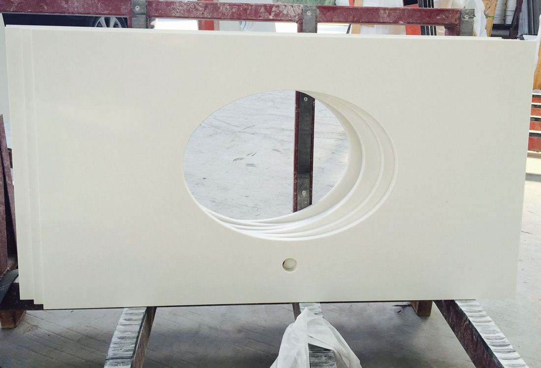 Super White Quartz Vanity Top