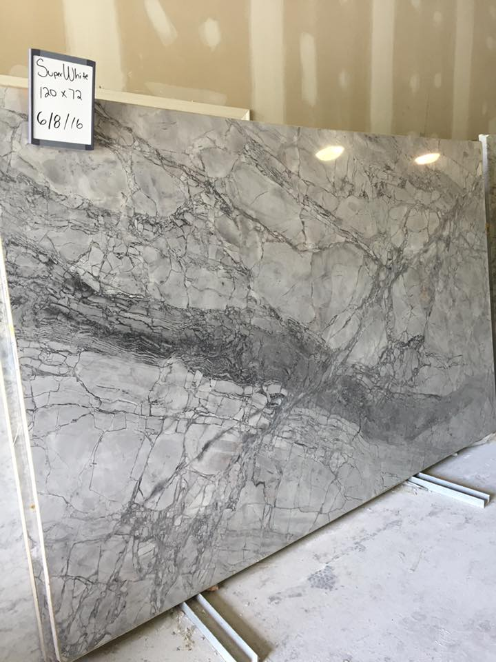 Super White Quartzite Slabs with High Quality