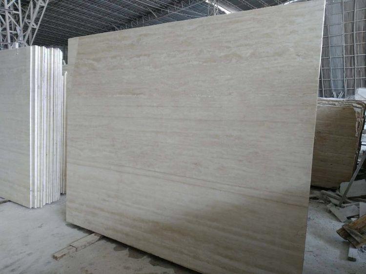 Super White Travertine White Polished Travertine Slabs