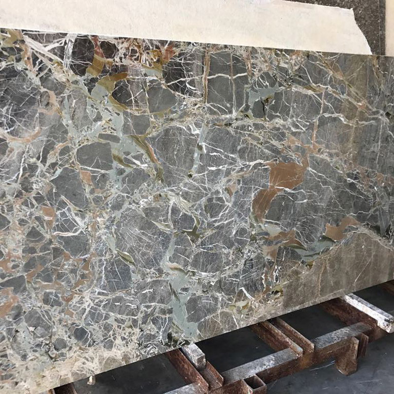 Swiss Blue Breccia Marble Slabs