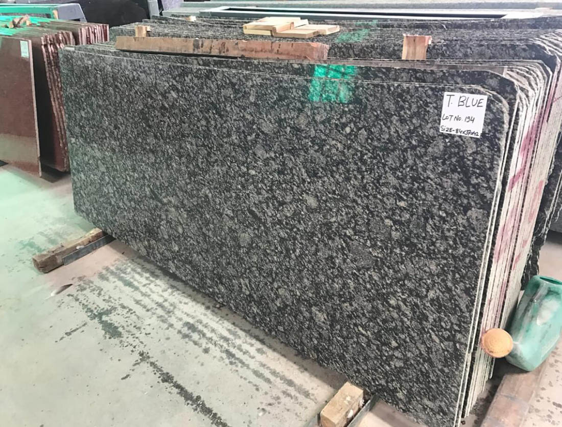 T Blue Indian Granite Polished Slabs