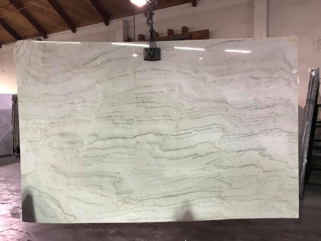 Tahiti Quartzite Slab White Polished Quartzite Slabs